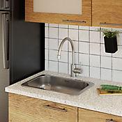Lavaplatos para Empotrar 1 Poceta 50x35 cm Acero Inoxidable