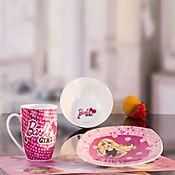 Vajilla Desayuno 3Pzs  Barbie Porcelana