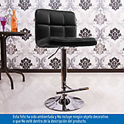 Silla Bar  Panel Negra