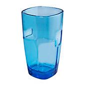Vaso Pop de 440 cc Alto Azul Acrílico