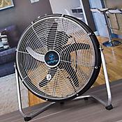 Ventilador Industrial de Piso 35cm 3 Velocidades Negro