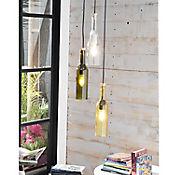 Lámpara Decorativa Colgante Botellas