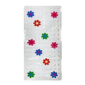 Tapete para Baño Antideslizante Flores 33x67 cm Transparente