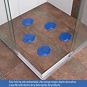 Set x5 Antideslizantes para Baño Conchas Azul