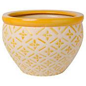 Macetero Panal Amarillo 17 x 12 cm
