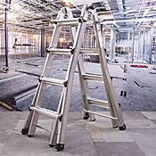 Escalera Multiproposito 5.18Mt  16 Escalones en Aluminio