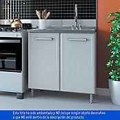 Mueble piso doble con lavaplatos Gourmet blanco
