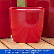 Maceta Roto Brillante Roja 22X20Cm