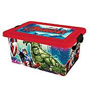 Caja plástica Avengers con tapa 7 lt