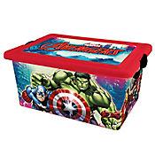 Caja plástica Avengers con tapa 13 lt