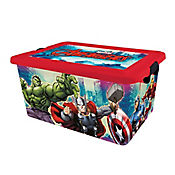 Caja plástica Avengers con tapa 23 lt