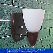 Aplique para Pared 1 Luz Rosca E27 Madera Wengue