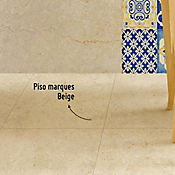 Piso Marques Beige 42.5x42.5 cm Caja 1.63 m2