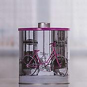 Caja Redonda Grande Lata Bicicleta