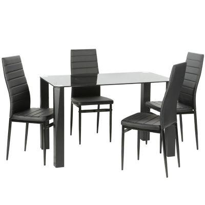 Comedor 100x65x76cm 4 sillas blanco for Mesa 4 sillas homecenter