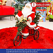 Santa Triciclo Musical 1 Luz Led 45cm Dear Sant