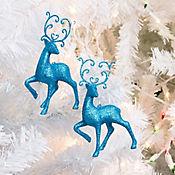 Set x2 Adorno Reno Colgante Dear Santa