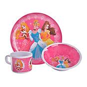 Vajilla de 3 Piezas en Melamina Princesas de Disney