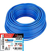 Cable #12 100m Azul