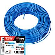 Alambre #14 100m Azul