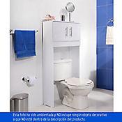 Mueble Organizador Sanitario para Baño Pinora 2 Puertas 132.2x60x23.9 cm Blanco