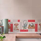 Base Cerámica Decorada para Cocina Camelia 30x60 cm Multicolor