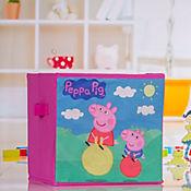 Caja Organizadora en Tela de Pepa Pig de 25 x 25 cm