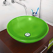 Lavamanos vessel verde 42x16 cm