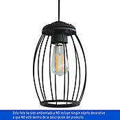 Lámpara Deco Colgante 1 Luz Rosca 60w E27 Vintage