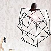 Lámpara Deco Colgante Origami 1 Luz Rosca E27 60w Vintage