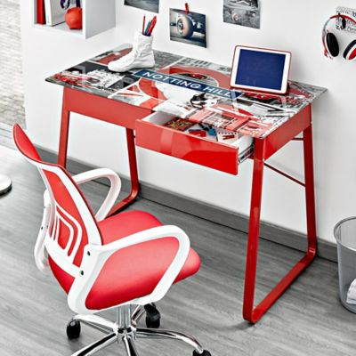 Escritorio vidrio notting hill 110x60x74 for Escritorios homecenter