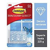 Gancho Adhesivo Transparentente Ventana x3und