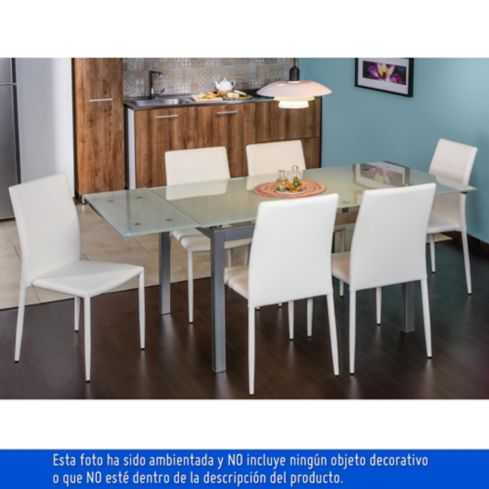 Mesa ext. vidrio 120x85x75cm extiende ha   homecenter.com.co