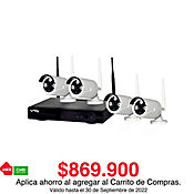 Kit DVR IP 4 Cámaras Inalámbricas Hd 720p