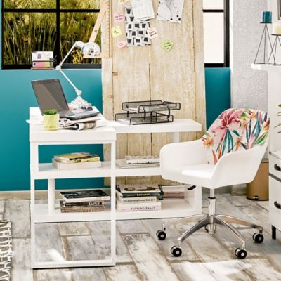 Escritorio barcelona blanco 146x48x78 c for Escritorios homecenter