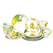 Juego de Vajilla 4 Puestos 16 Piezas Limones