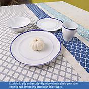 Juego de Vajilla 4 Puestos 16 Piezas Bistro Azul