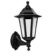 Farol de Pared 1 luz E27 Negro Plástico