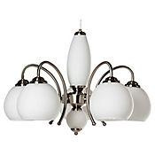 Lámpara Colgante Clasic Sabatier 5 Luces Rosca E27 Vidrio - Satín
