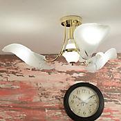 Lámpara Colgante Hojas Roma 4 Luces Rosca E27 Dorada