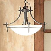 Lámpara Colgante 3 Luces Rosca E27 Metal - Vidrio Ámbar Antique