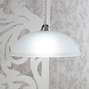 Lámpara Colgante para Cocina Yoyo 1 Luz Rosca E27 Cromo - Vidrio