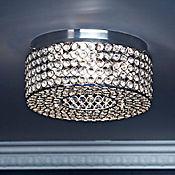 Lámpara para Techo Cristales Nielsen 4 Luces Rosca E14 Blanca