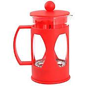 Cafetera a Presión en Vidrio de 600 cc Roja