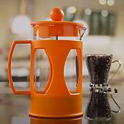 Cafetera a Presión en Vidrio de 600 cc Naranja
