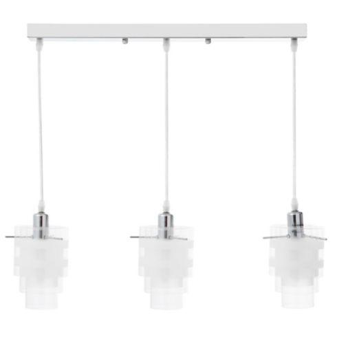 3 Lámpara Cromo Colgante 60w Vidrio Luces E14 Rosca qUpSVzM