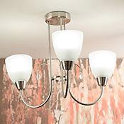 Lámpara Colgante Barcelona 3 Luces Rosca E27 Satín - Vidrio