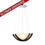 Lámpara para Techo Luanda 3 Luces Rosca E27 Cromo
