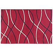 Tapete Bcf Rayas 150x220 cm Rojo