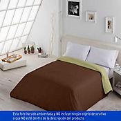 Duvet Bicolor Sencillo 170x225 cm Beige - Café